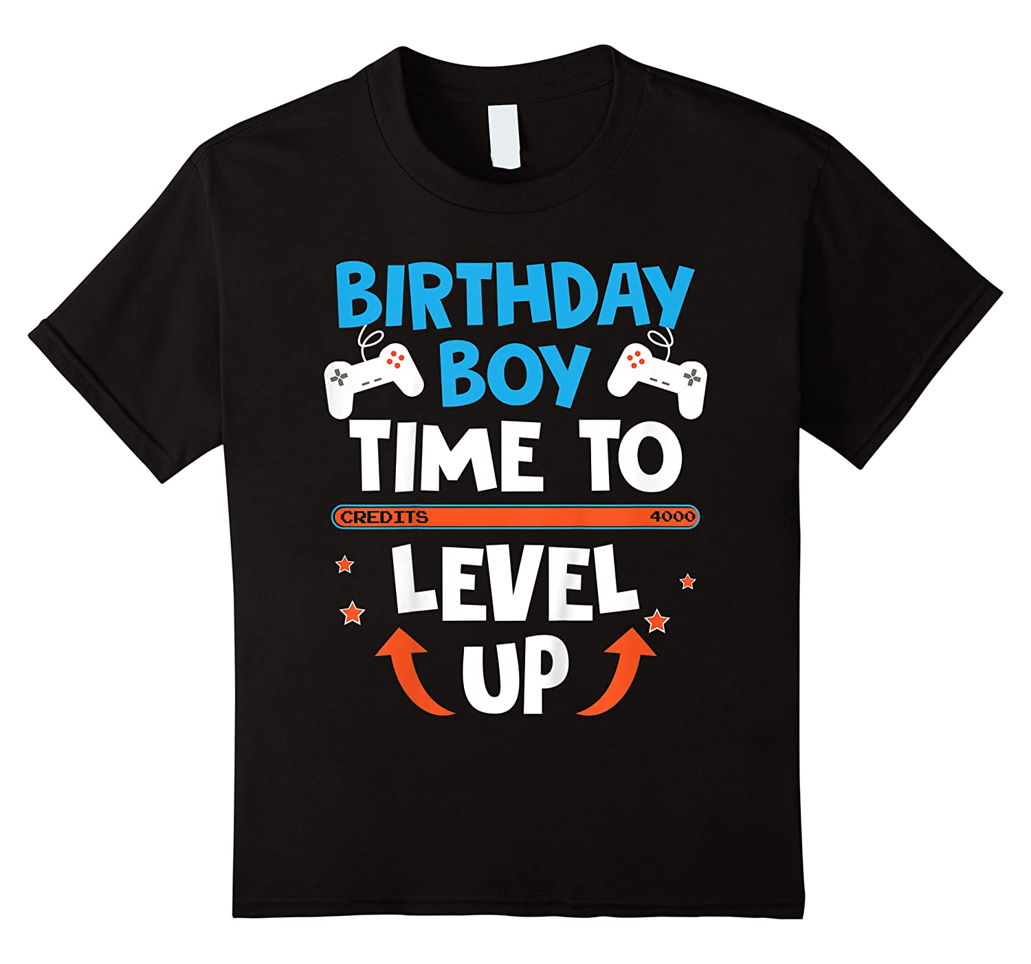 Birthday Boy Time To Level Up Video Game Gamers Gift T-shirt
