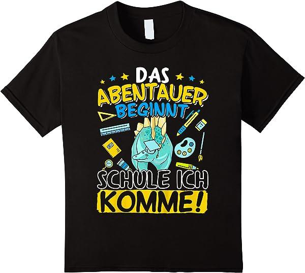 Kinder Dino Einschulung Jungen Schulkind Erstklässler Geschenk T-shirt