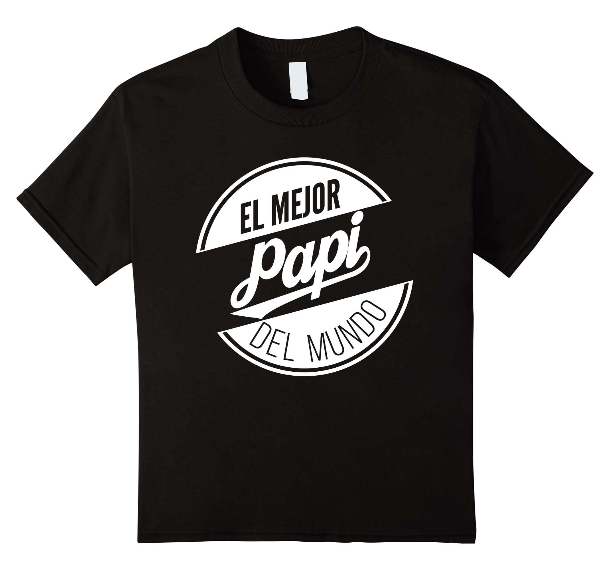 Amazon.com: El Mejor Papi Del Mundo Camiseta - Official T-Shirt: Clothing