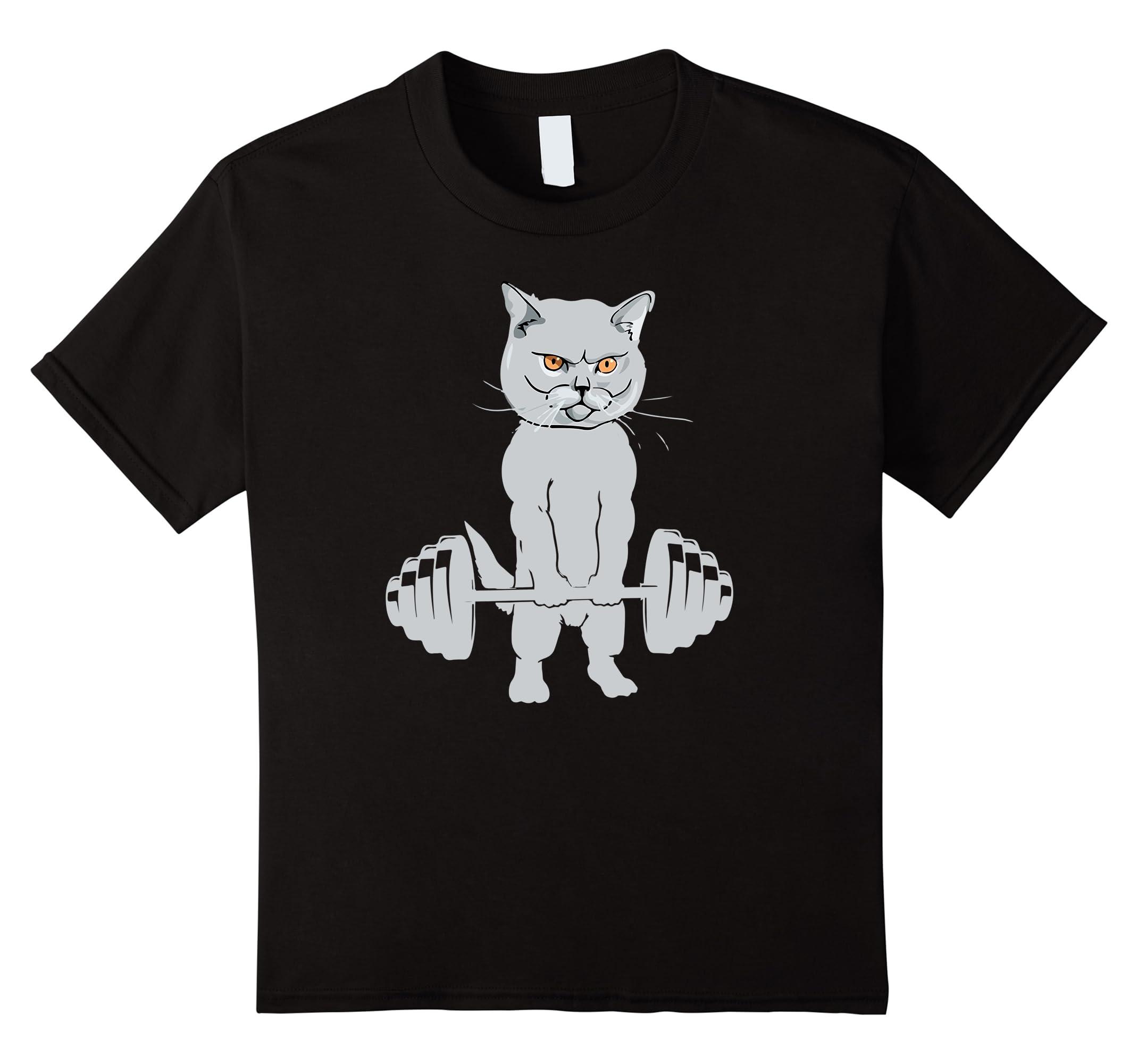 Cat Deadlift Powerlifting T Shirt Lover-Awarplus