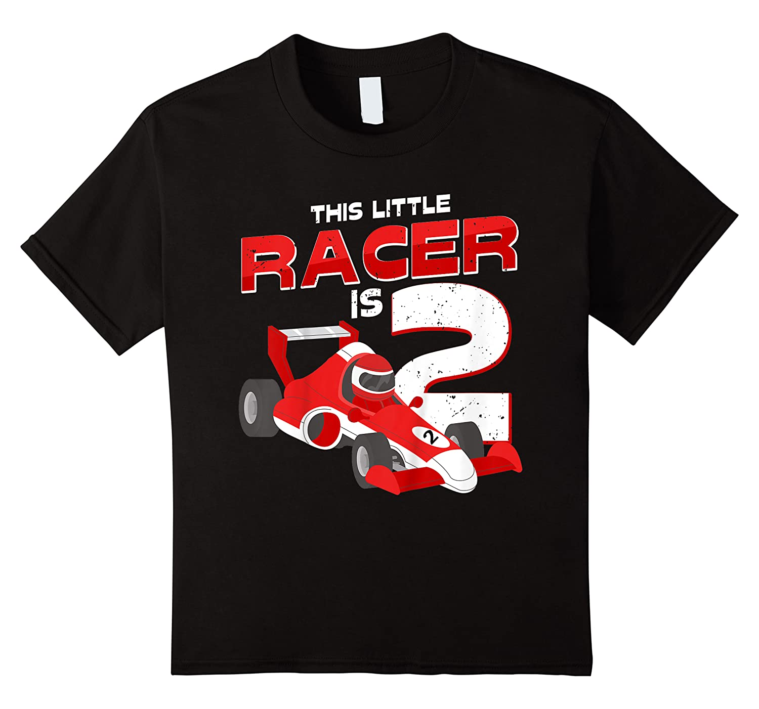 Race Car 2nd Birthday I This Little Racer Is 2 Years Old Shirts