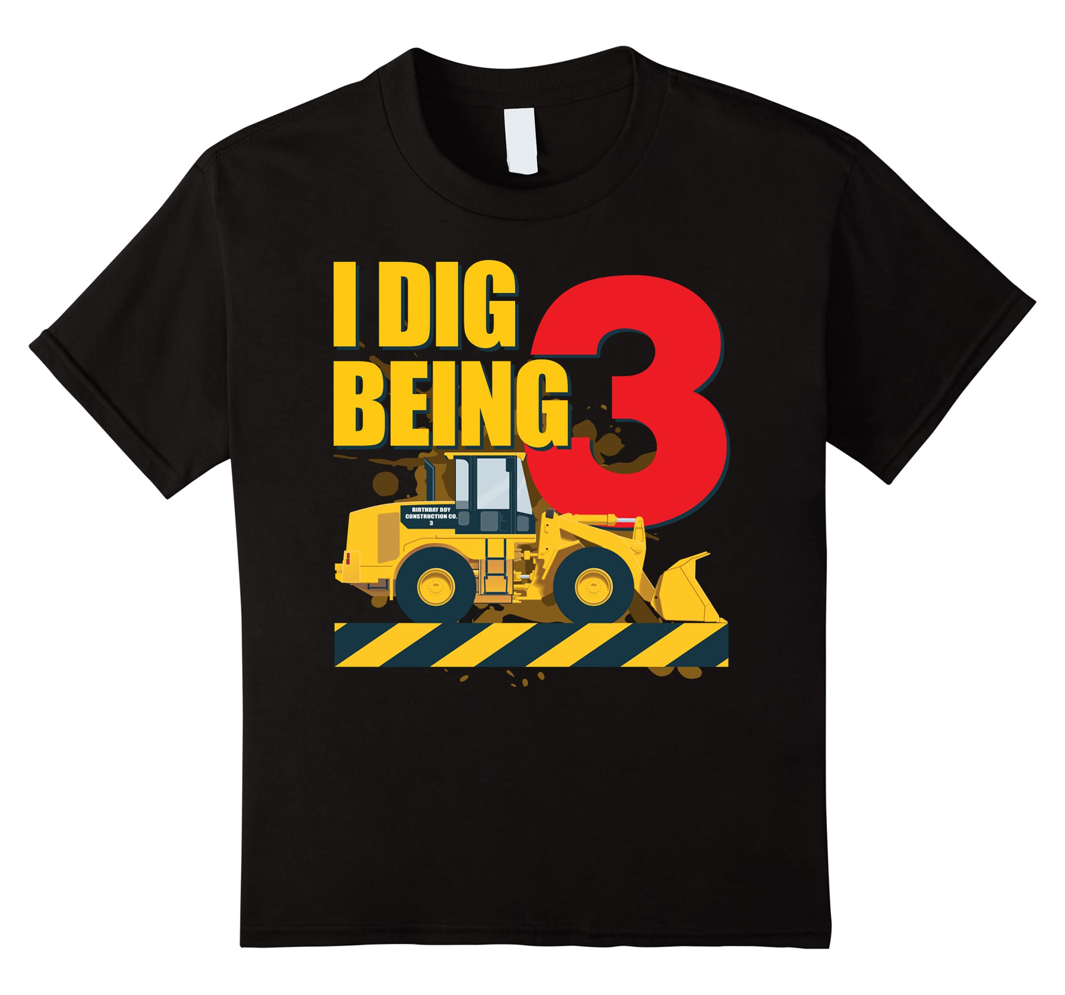 Amazon Kids I Dig Being 3 Boys Construction Birthday Party T Shirt Clothing