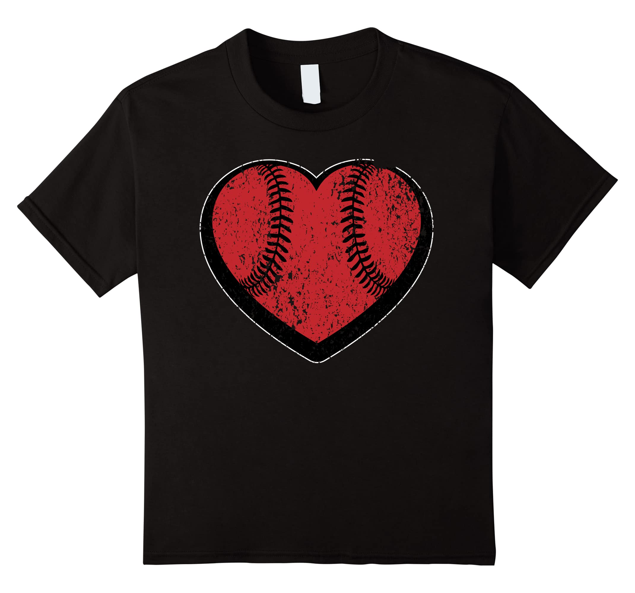 Heart Stitched Baseball Weathered Valentines-Tovacu
