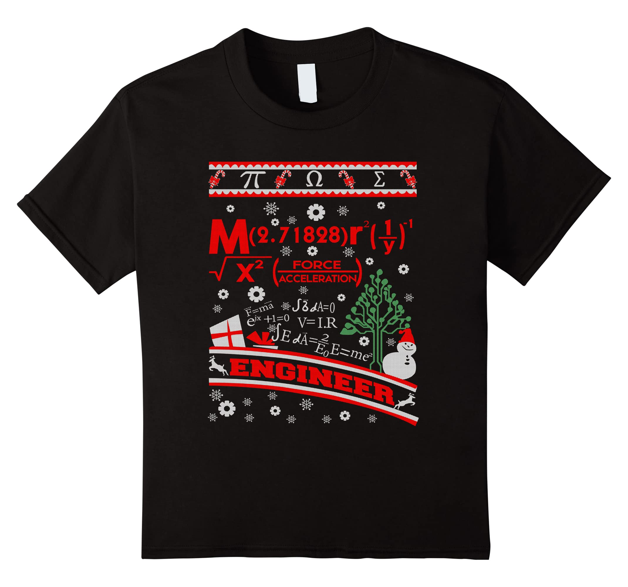Engineer Christmas Ugly Sweater T Shirt-Teeae