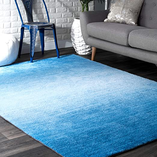 Nuloom Bernetta Hand Tufted Ombre Area Rug 7 6 X 9 6 Blue Amazon Co Uk Kitchen Home