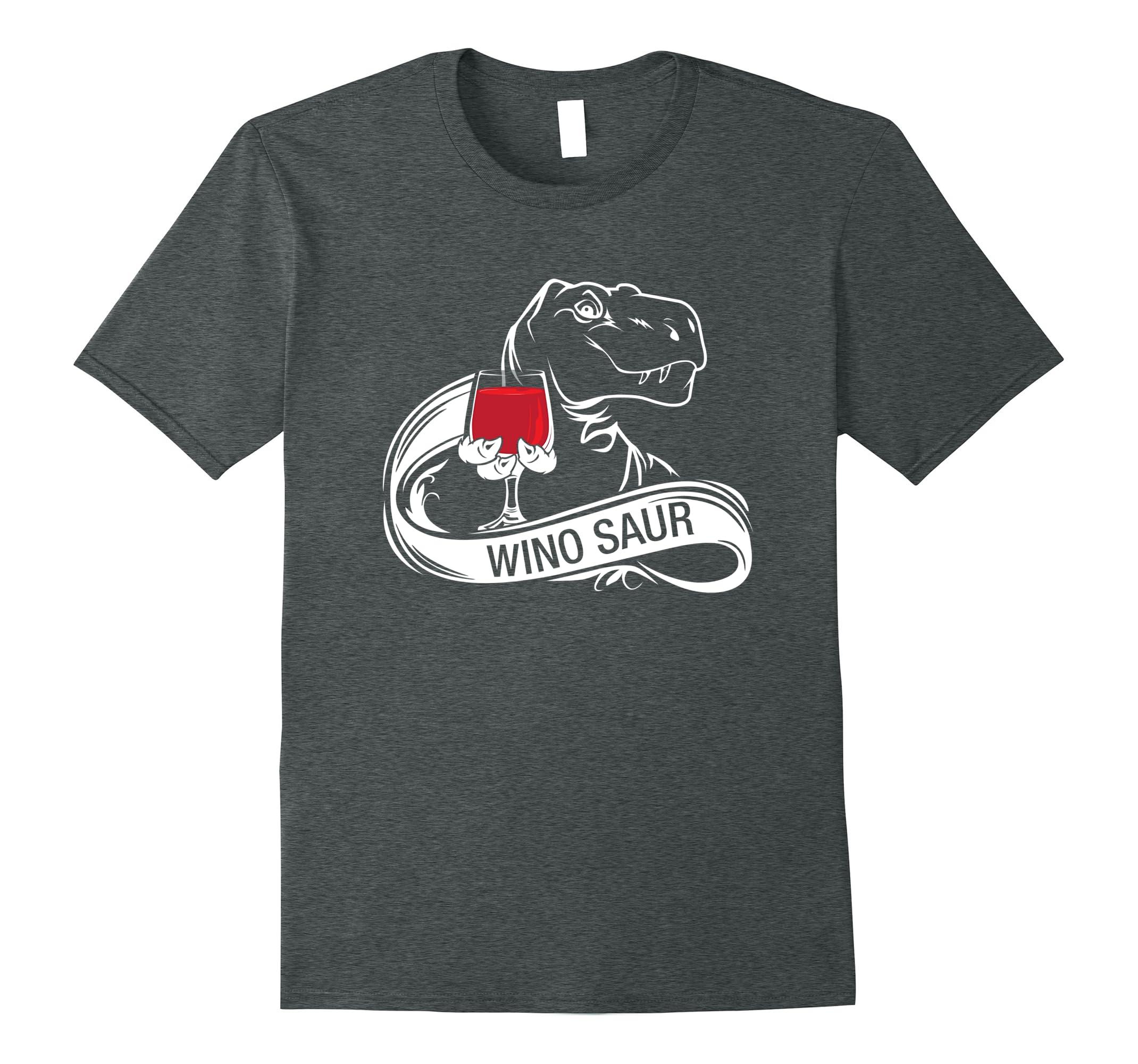 Winosaur T- Shirt Funny Wine Lover gift-RT