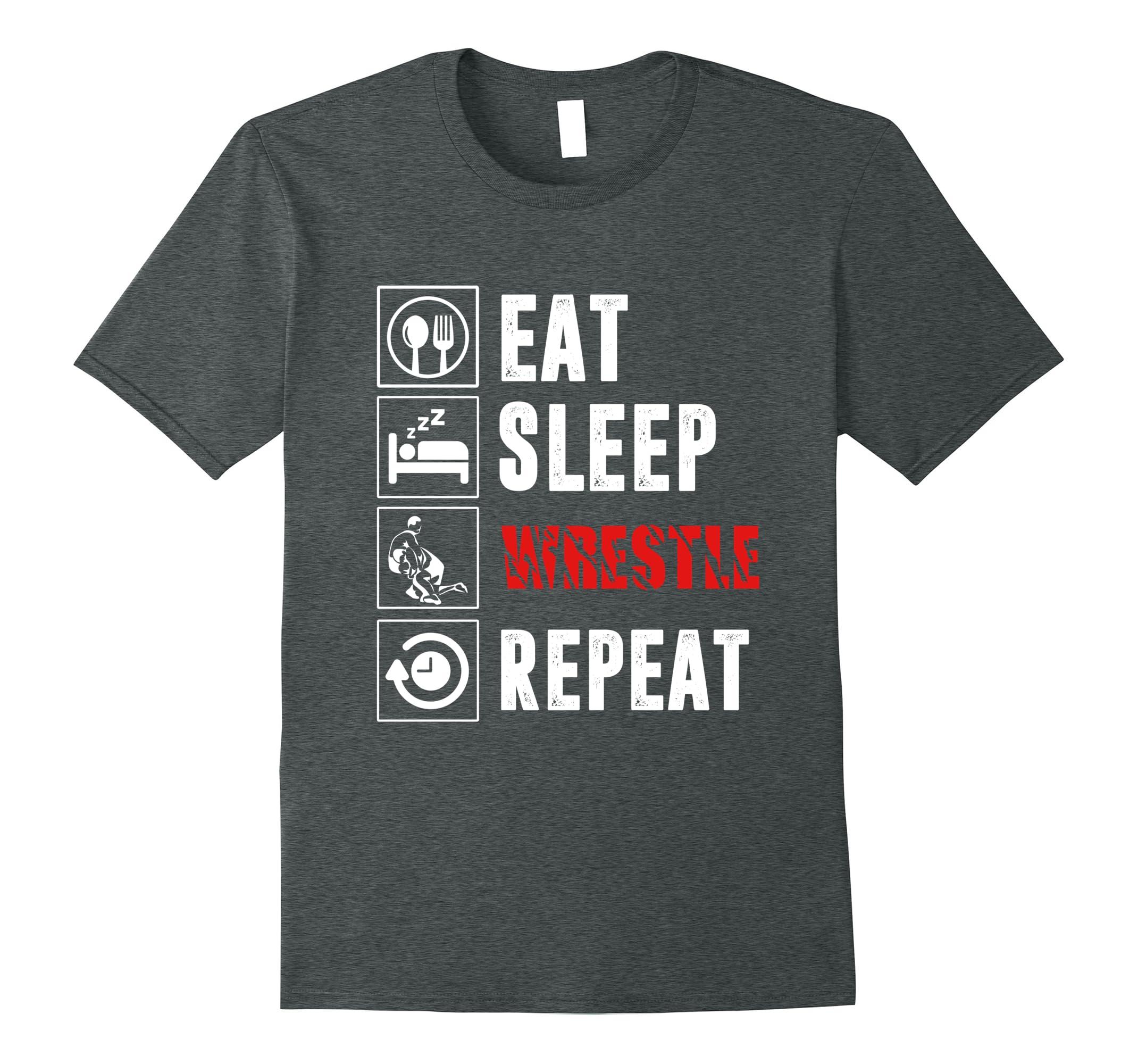 Eat Sleep Wrestle Repeat Wrestling-Samdetee
