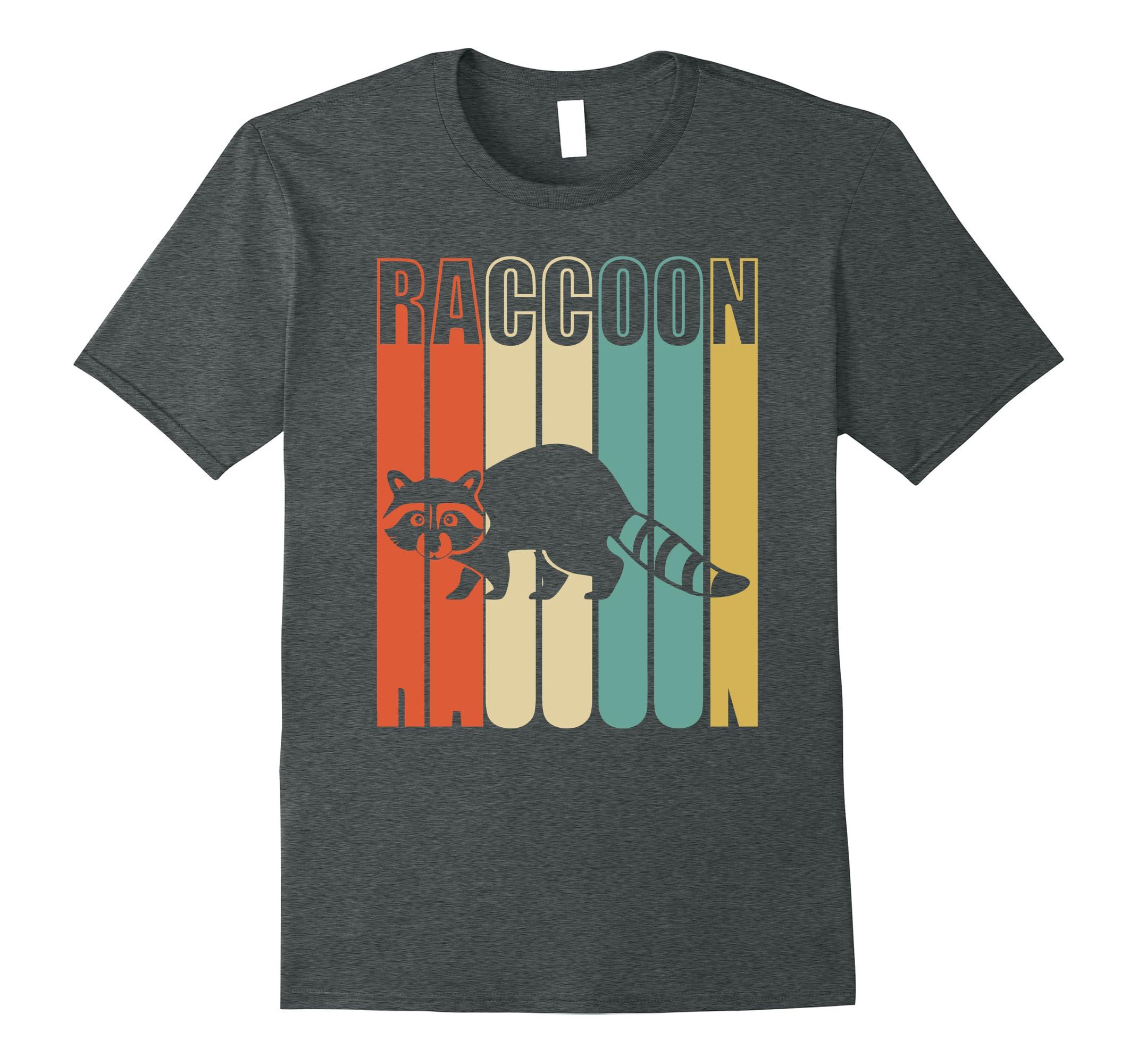Raccoon Shirt Funny Vintage Silhouette-Tovacu