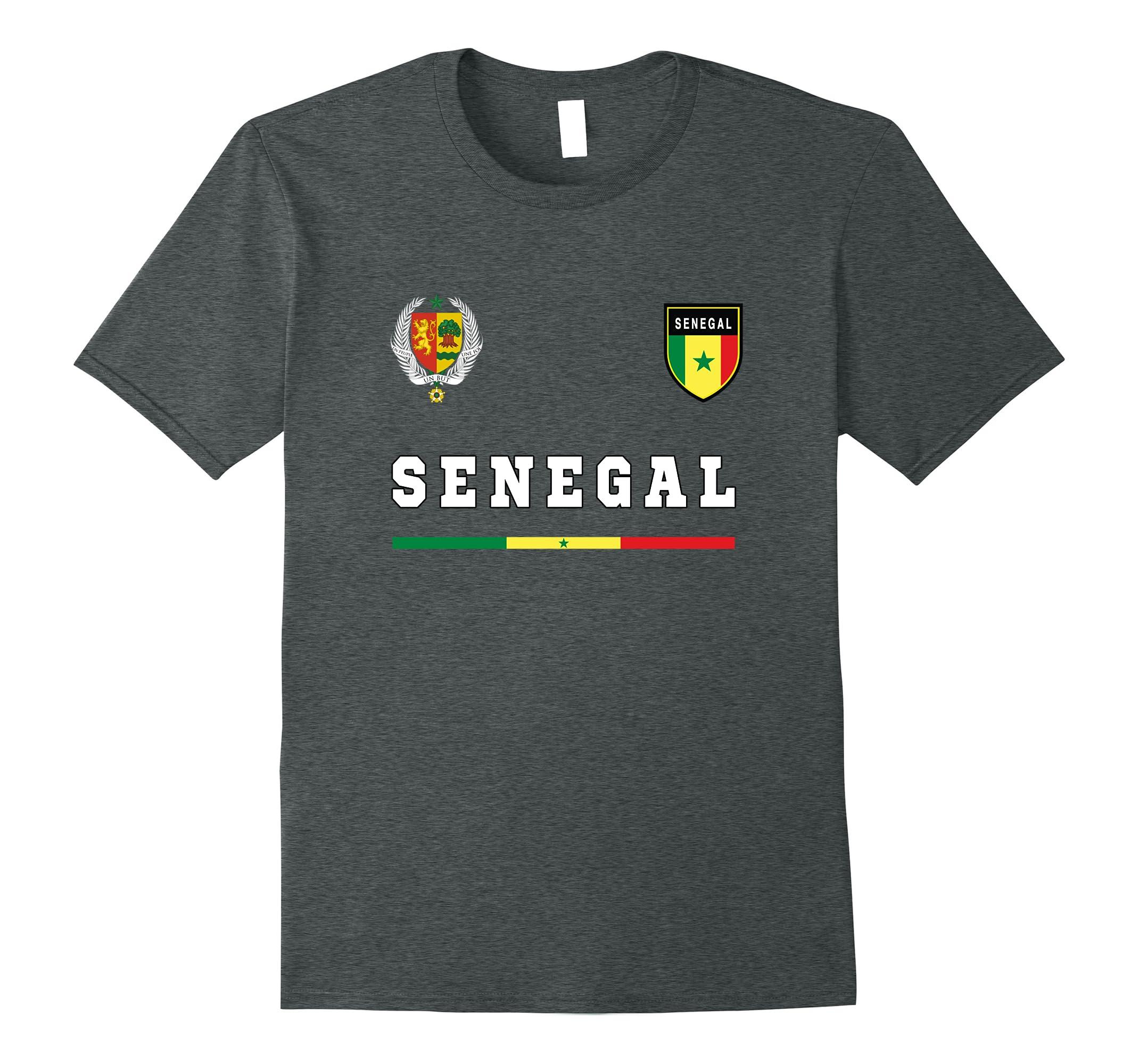 Senegal Soccer T-Shirt Retro Football Jersey Tee Sport-RT