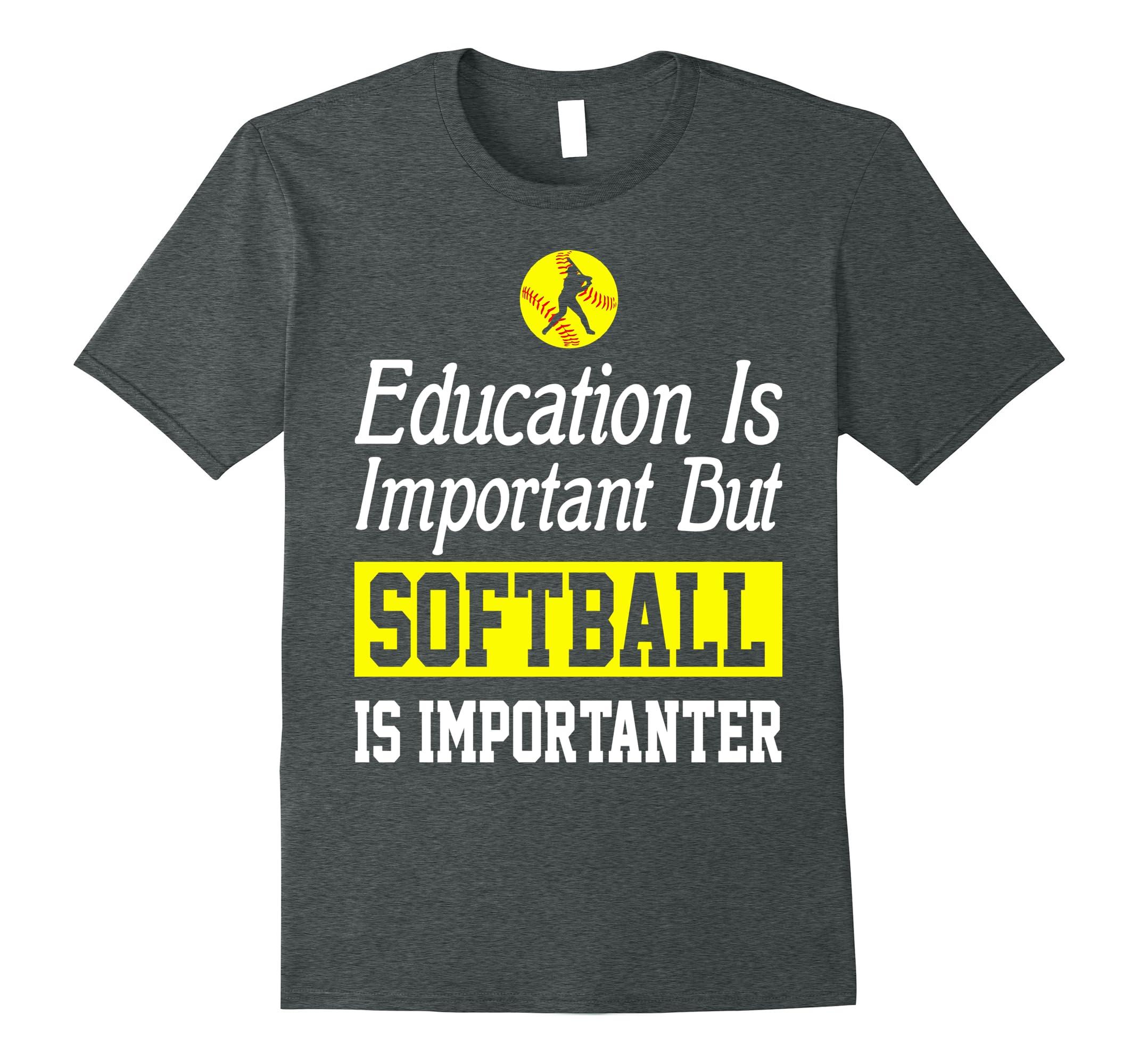 Education Important Softball Importanter Shirt-Colonhue
