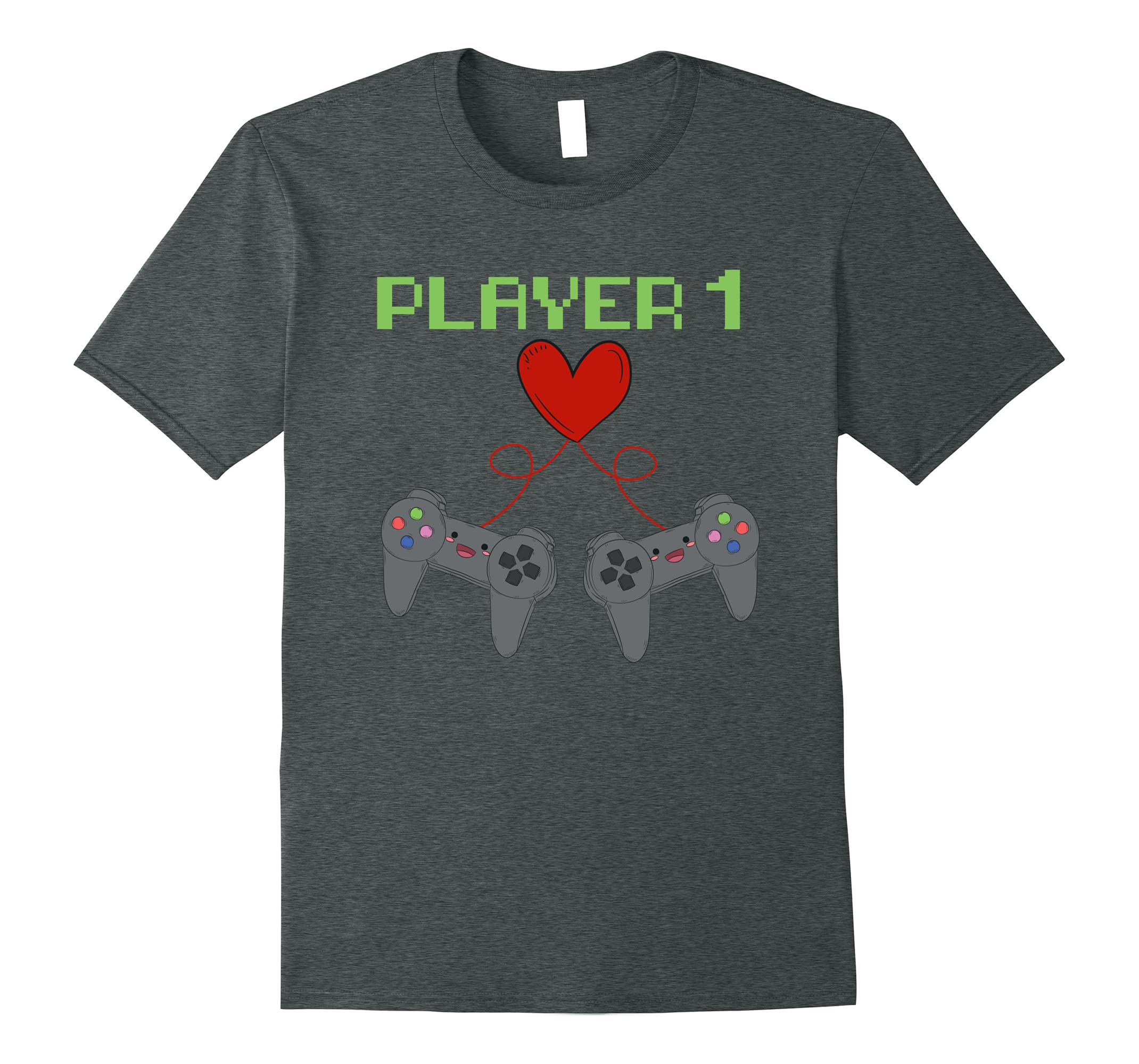 Player 1 Couples T Shirt For Valentines Day Fun For Gamers Ah My