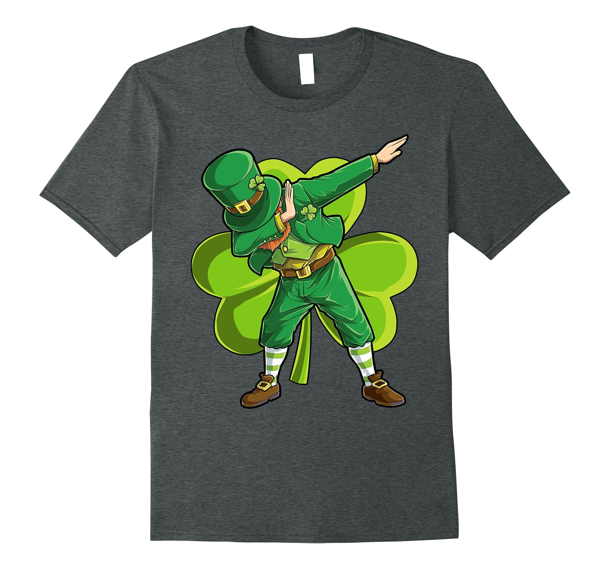 Dabbing Leprechaun T shirt Funny Dab St Patricks Day Gift-RT