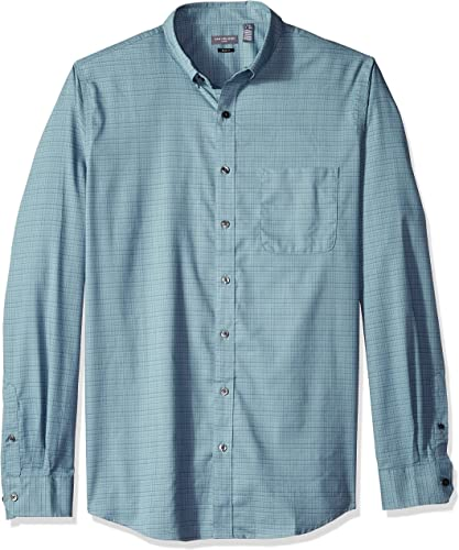 Van Heusen Hommes's Big Tall Slim Flex Stretch Non Iron Shirt, Dark Aqua Midnight, grand Tall Slim