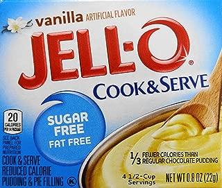 Jell-O Vanilla Pudding, Sugar Free, Cook & Serve (5 Pack)