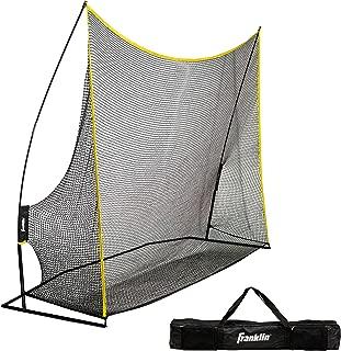 Franklin Sports Golf Training Net - 10' Wide - Heavy Duty Portable Net - Easy Set Up - Large Golf Net - Backyard Net - Includes Heavy Duty Travel Bag