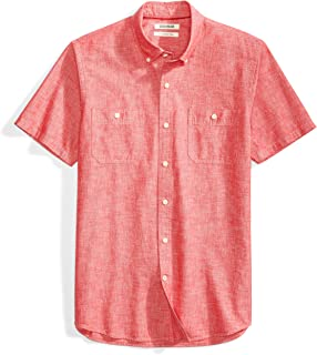 Amazon Brand - Goodthreads Men's Slim-Fit Short-Sleeve Chambray Shirt