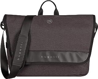 """Bugatti Universum Messenger Bag für Herren mit 15"""" Laptopfach, Umhängetasche Kuriertasche Schultertasche Herrentasche, Schwarz"""