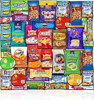 Blue Ribbon Care Package (45 Count) Ultimate Sampler Mixed Bulk Bars, Cookies, Chips, Candy Snacks Variety Box Pack Office...