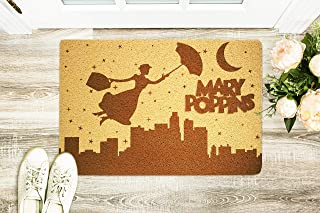 Mary Poppins Fictional Character 24x16 inch Doormat Outdoor Indoor Entry Rubber Front Porch Hello Mat Home Decor Wedding A...