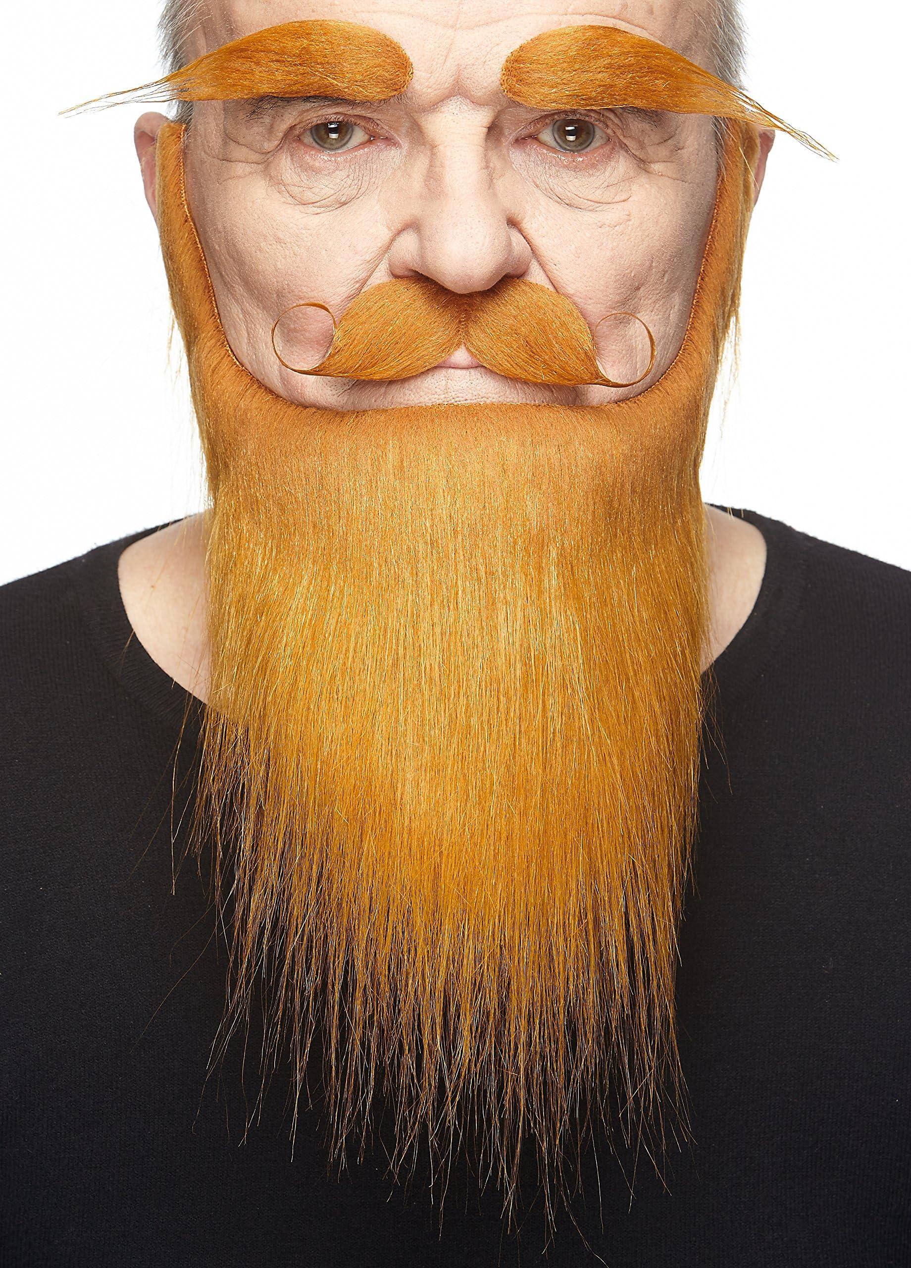 Halloween realistic stick-on fake brown black blonde fancy dress cosplay beard