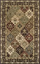 Superior Elegant Palmyra Collection Area Rug, 10mm Pile Height with Jute Backing, Gorgeous Traditional Persian Rug Design, Anti-Static, Water-Repellent Rugs - 8' x 10' Rug