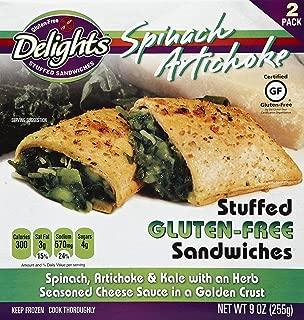 Gluten Free Delights Spinach Artichoke Stuffed Sandwich, 9 Ounce (Pack of 6)