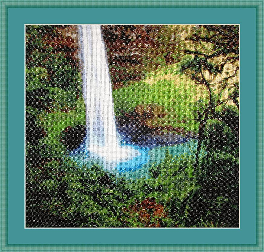 Secret Waterfall Counted Cross Stitch Kit By Orcraphics