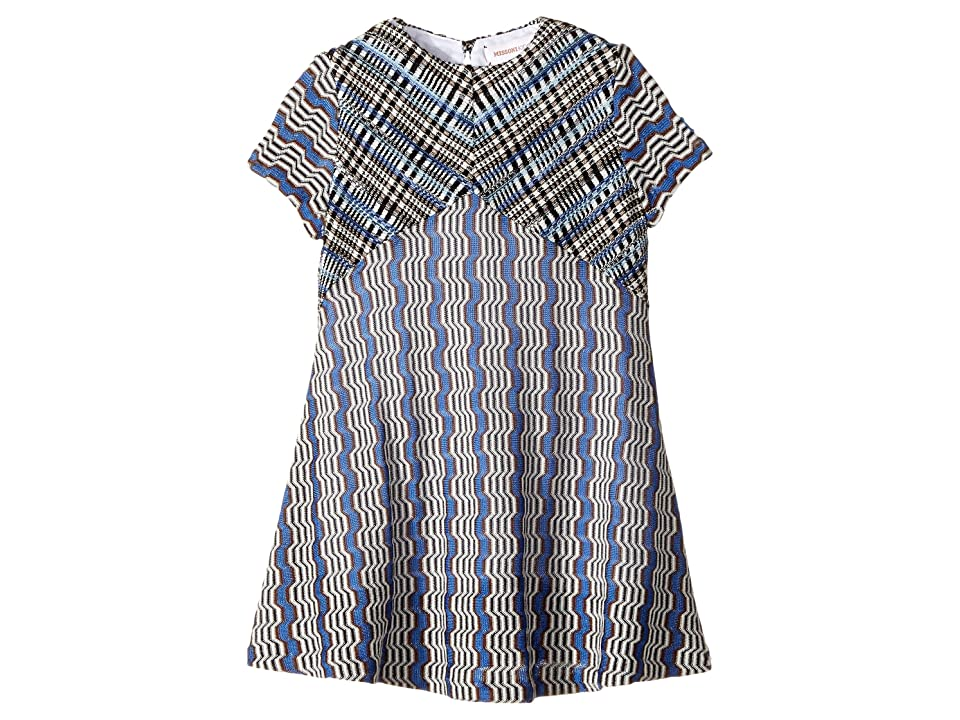 Missoni Kids Little Greca Dress (Toddler/Little Kids) (Blue) Girl