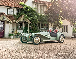 Caterham Seven Sprint UK Spec (2017) Car Print on 10 Mil Archival Satin Paper Green Front Side Static View 16