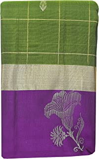 SARAVANABAVA SILKS Kanchipuram Pure Pattu Sarees Half & Half -(SRBS000P195-2 - Dark Green - 5.2mts)