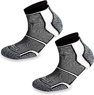 Womens More Mile Cadeo 2 Pack White//Grey Sports Running Socks UK 2-5 Mens