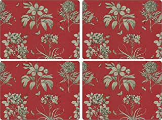 Pimpernel Sanderson Etchings and Roses Red Placemats Set of 4