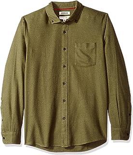 Amazon Brand - Goodthreads Men's Standard-Fit Long-Sleeve Heather Flannel Shirt