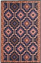 Fab Habitat Reversible, Indoor/Outdoor Weather Resistant Floor Mat/Rug Lhasa-Coral (4' x 6')