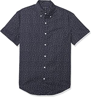 J.Crew Mercantile Men's Slim-fit Short-Sleeve Stretch Tropical Printed Shirt