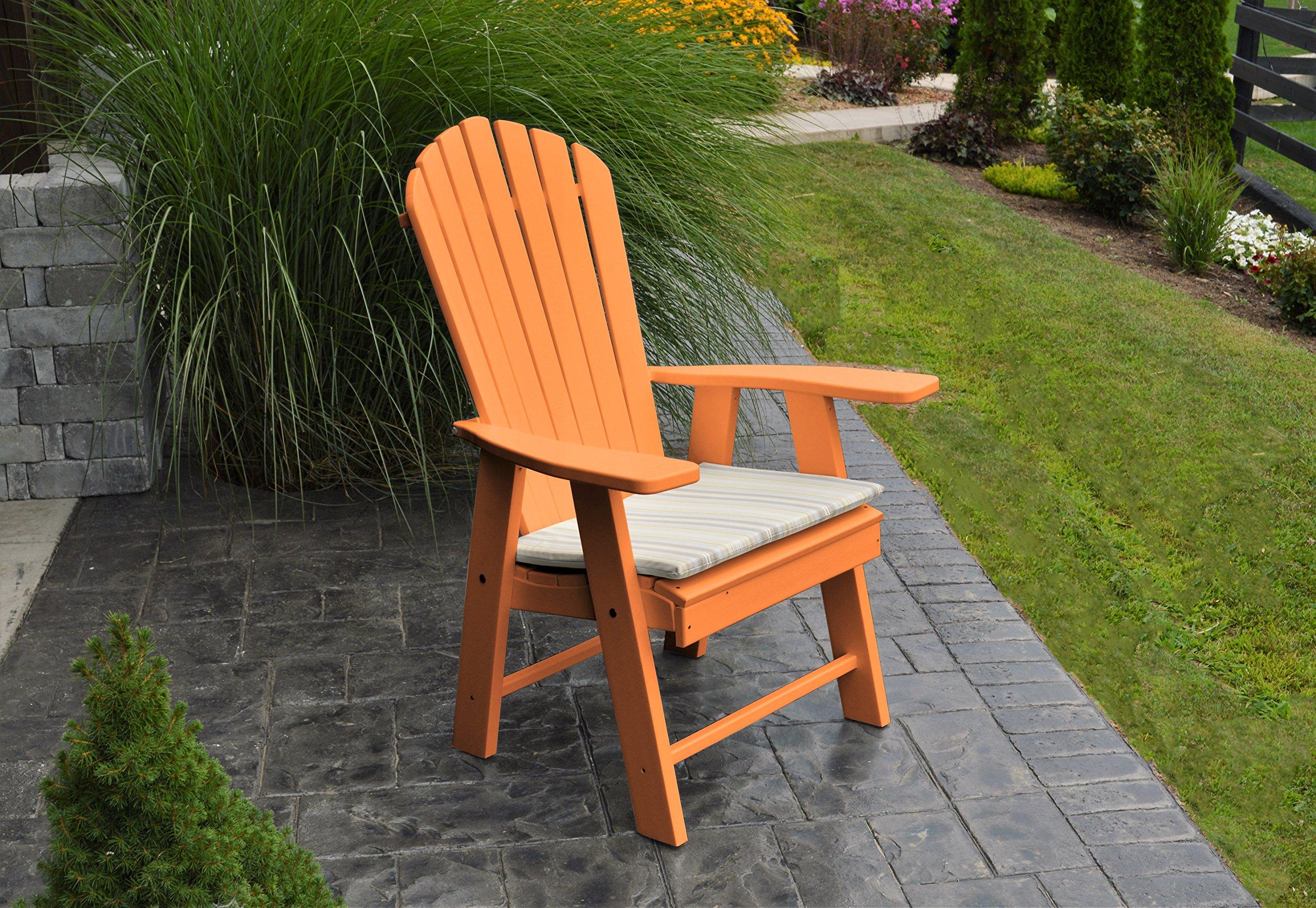 Mejor Polywood Adirondack silla muebles de porche y Patio asiento, diseño vertical para elegante vida al aire libre, perfecto para la parte delantera entrada y Patio trasero, Fire Pit y Piscina, diversión