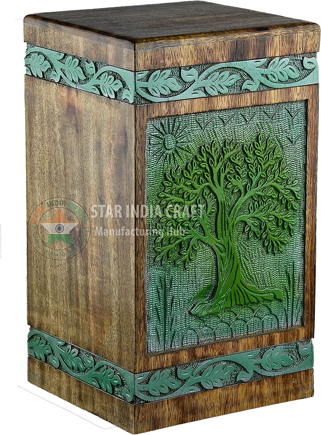 STAR INDIA Max 58% OFF CRAFT Urns for Rosewood Ashes Cremation Human New Orleans Mall Adult
