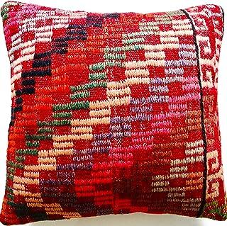 Ethnic Kilim Pillow,16x16 Kilim Pillow,Kilim Pillow Cover,Kilim Pillows,Kilim Cushion No:0283
