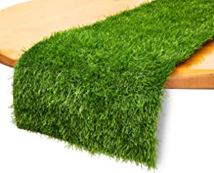 Juvale Synthetic Grass Table Runner for Party Decor (14 x 108 Inches)