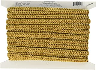 gold flat braid trim
