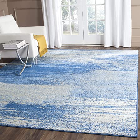 Amazon Com Safavieh Adirondack Collection Adr112f Modern Abstract Non Shedding Stain Resistant Living Room Bedroom Area Rug 8 X 10 Silver Blue Furniture Decor