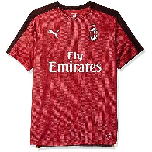2827b5831ac PUMA Men's Ac Milan Stadium Jersey Ss with Sponsor