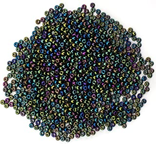 Cousin Czech Glass Beads, 11/0 Iridescent Green Iris Seed Beads, 10 grams by Cousin