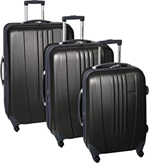 Travelers Choice Toronto 3-Piece Hardside Lightweight Expandable 4-Wheeled Spinner Luggage Set with
