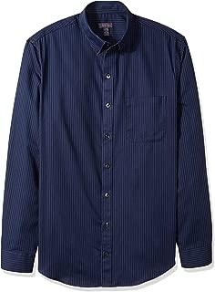 Men's Big and Tall Wrinkle Free Poplin Long Sleeve Button Down Shirt