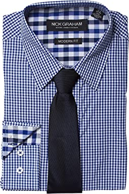 Nick Graham - Stretch Gingham Dress Shirt