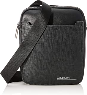 Calvin Klein - Sliver Mix Flat Crossover, Shoppers y bolsos de hombro Hombre, Negro (Black), 0.1x0.1x0.1 cm (W x H L)