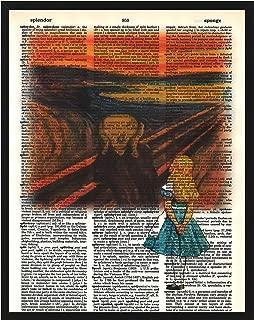 Signature Studios Alice in Wonderland Wall Decor Alice in Edvard Munch's The Scream Alice in Wonderland Dictionary Art Print Mixed Media Print 8x10
