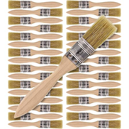 Paint Brushes and Chip Paint Brushes for Paint Stains Varnishes Glues and Gesso Binchil 36 Pack of 1 Inch 24mm