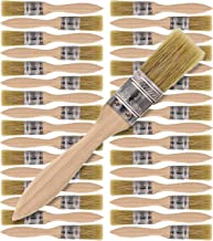 US Art Supply 36 Pack of 1 inch Paint and Chip Paint Brushes for Paint Stains Varnishes Glues and Gesso